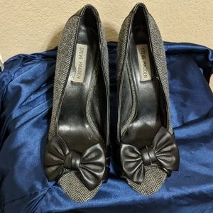 Pinup Peep Toe Houndstooth Heels